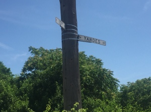 sign at Yandes intersection